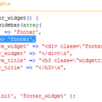 "Don't name your last WP widget area ""Footer"""